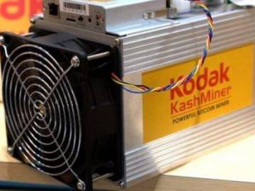Kodak introduced its bitcoin miner
