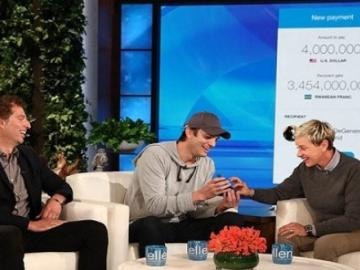 Ashton Kutcher donates $ 4 million in XRP charitable Foundation Ellen DeGeneres