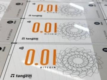 In Singapore released a bitcoin banknote