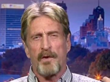 "For the sake of making cryptocurrencies John McAfee is even ready to ""move"" trump"